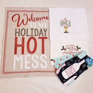 Holiday Christmas Dish Towels